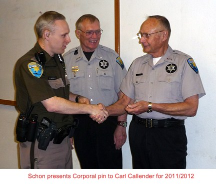 Thanks Jim for 3 years as Corporal