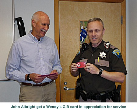 Thanks John for many years of service as an officer!