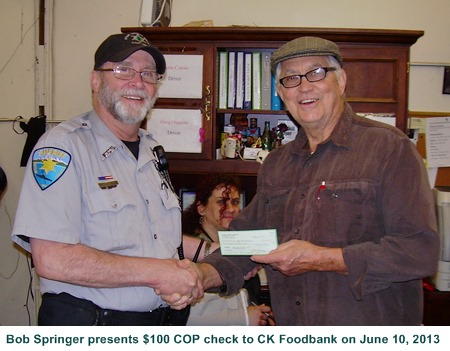 $100 checks also given to 3 other local food banks